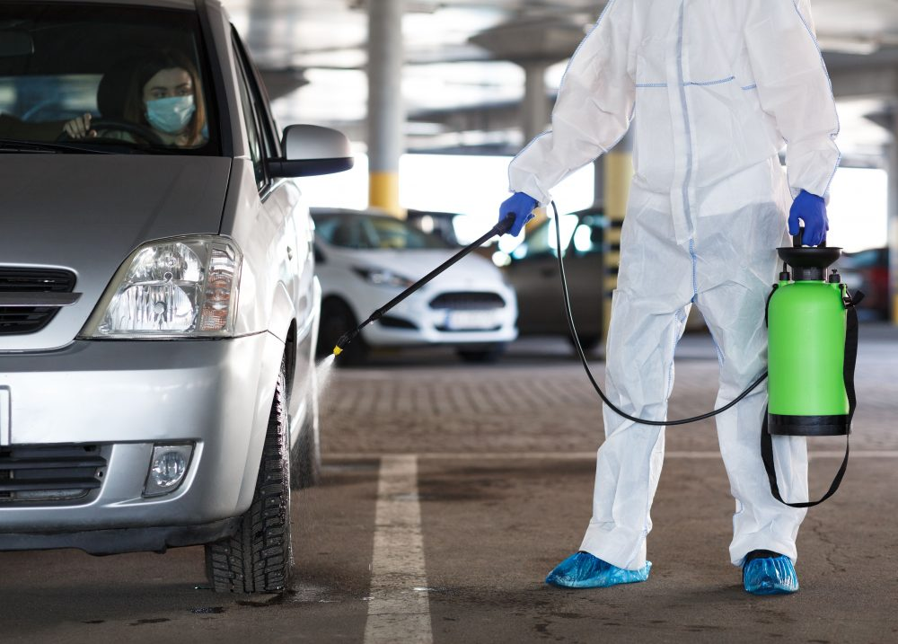 Car cleaning services.